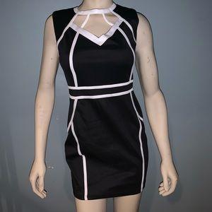 *MAKE OFFER* black and white dress Size:S/M